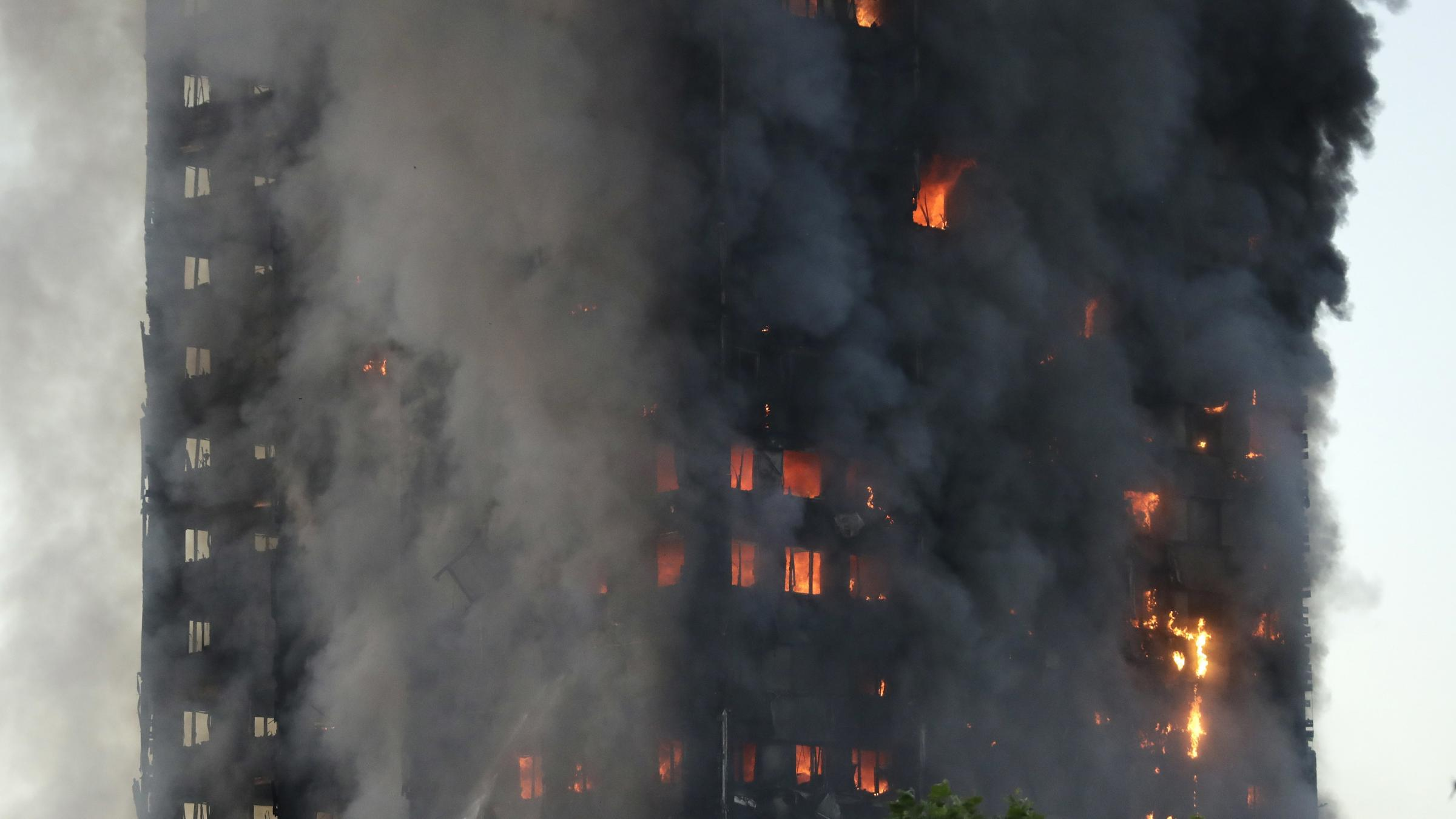 Huge fire breaks out in London apartment building